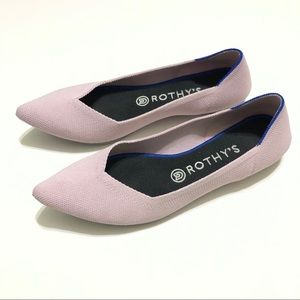 Rothys The Point Flats in Petal Pink Size 9